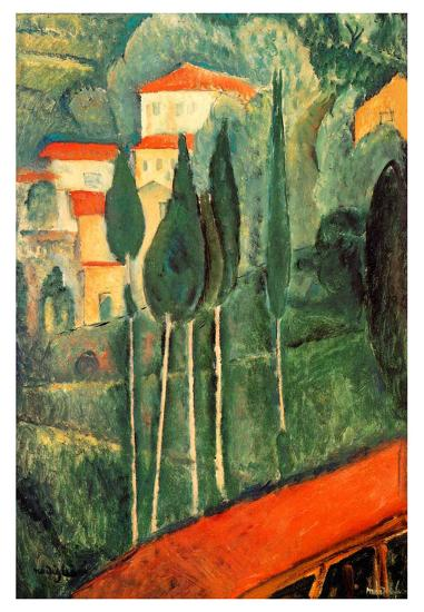Landscape Southern France-Amedeo Modigliani-Art Print