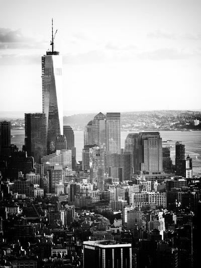 Landscape Sunset View, One World Trade Center, Manhattan, New York Vintage-Philippe Hugonnard-Photographic Print
