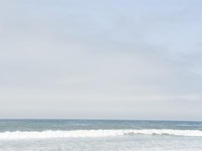 Landscape View of Ocean and Wave Breaking, Santa Barbara, California-James Forte-Photographic Print
