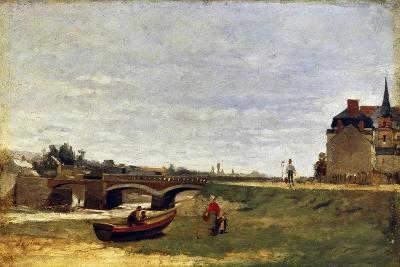 Landscape with a Bridge, Early 1870S-Stanislas Lepine-Giclee Print