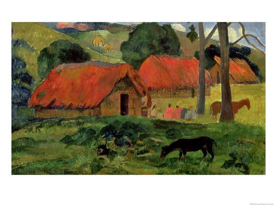Landscape with a Dog in Front of a Shed, 1892-Paul Gauguin-Giclee Print