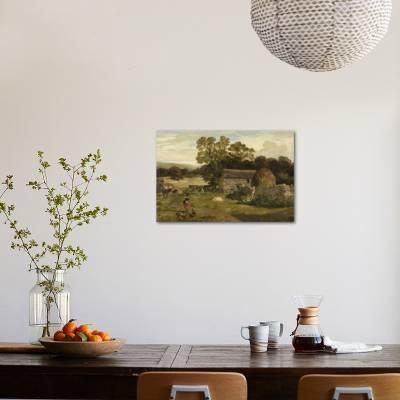 Landscape with a Farm Giclee Print by James Peel | Art com