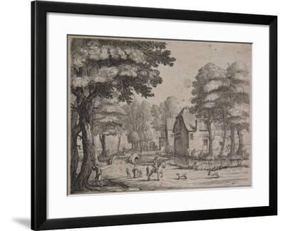 Landscape with a Ferry Boat, C.1650-Jan Van Goyen-Framed Giclee Print