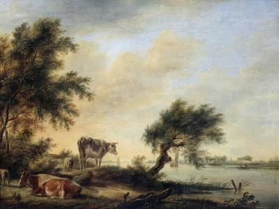 Landscape with a Herd, 18th Century-Jan Jansson-Giclee Print