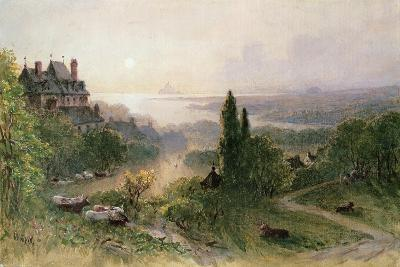 Landscape with a Large House-William Wyld-Giclee Print