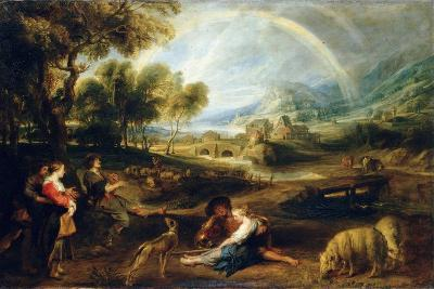 Landscape with a Rainbow, Early 1630S-Peter Paul Rubens-Giclee Print