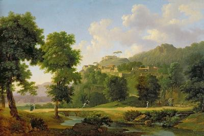 Landscape with a Rider, C.1808-10-Jean Victor Bertin-Giclee Print