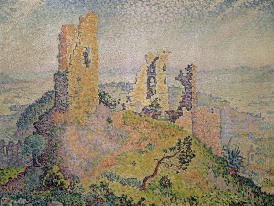 Landscape with a Ruined Castle-Paul Signac-Giclee Print