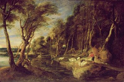 Landscape with a Shepherd-Peter Paul Rubens-Giclee Print