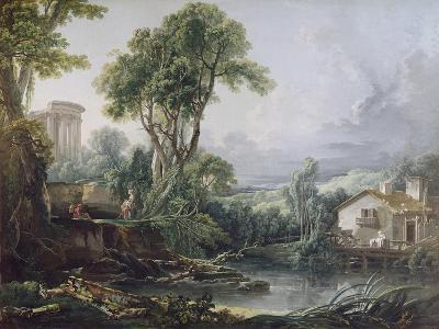 Landscape with a Watermill-Francois Boucher-Giclee Print
