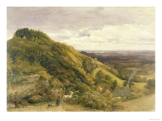 Landscape with a Woman Driving Sheep-Samuel Palmer-Giclee Print