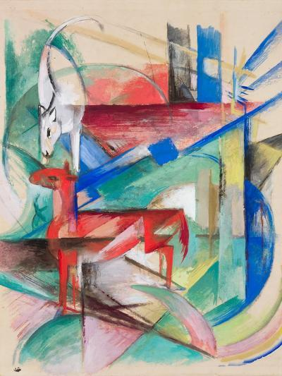 Landscape with Animals, 1913-Franz Marc-Giclee Print