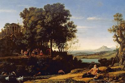 Landscape with Apollo and the Muses, 1652-Claude Lorraine-Giclee Print