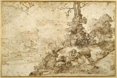 Landscape with Astrology-Domenico Campagnola-Giclee Print
