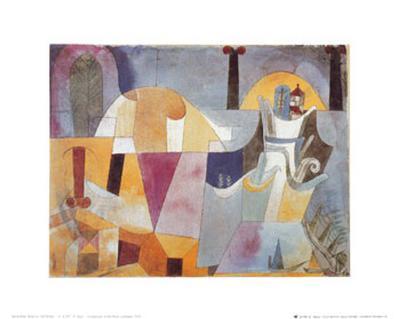 Landscape with Black Columns-Paul Klee-Art Print