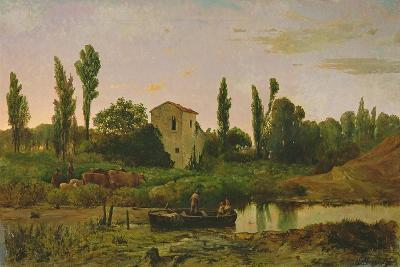 Landscape with Boat, 1867-Modesto Urgell y Inglada-Giclee Print
