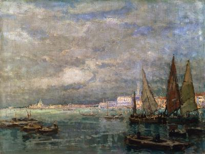 Landscape with Boats, Late 19th or Early 20th Century-Karl Hagemeister-Giclee Print