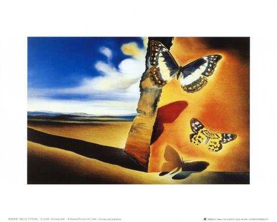 Landscape with Butterflies-Salvador Dal?-Art Print