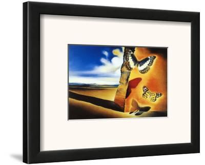 Landscape with Butterflies-Salvador Dal?-Framed Art Print