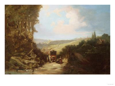 Landscape with Carriage-Leon Bakst-Giclee Print