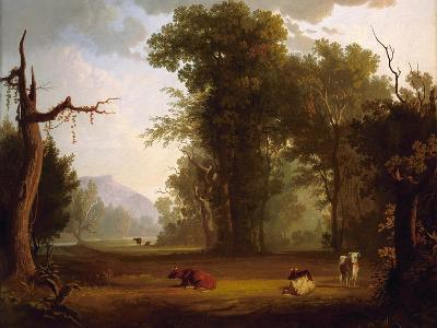 Landscape with Cattle, 1846-George Caleb Bingham-Giclee Print