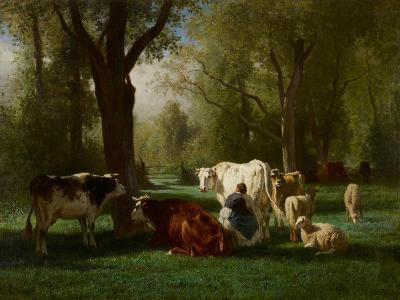 Landscape with Cattle and Sheep, 1852-8-Constant-emile Troyon-Giclee Print