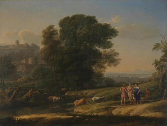 Landscape with Cephalus and Procris Reunited by Diana, 1645-Claude Lorraine-Giclee Print