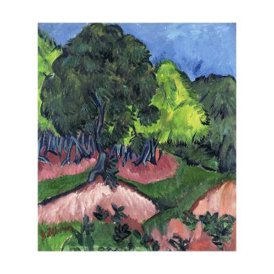 Landscape with Chestnut Tree-Ernst Ludwig Kirchner-Giclee Print
