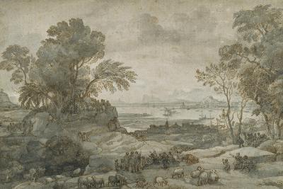 Landscape with Christ Preaching the Sermon on the Mount-Claude Lorraine-Giclee Print
