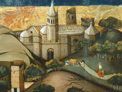 Landscape with Church, the Flight into Egypt, Verdu Retable, 1430-61, Llieda School, Detail-Jaime Ferrer-Giclee Print