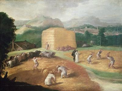 Landscape with Corn Threshers-Niccolo dell' Abate-Giclee Print