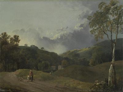 Landscape with Cottagers-George the Elder Barret-Giclee Print