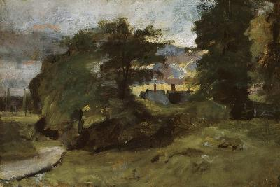 Landscape with Cottages, 1809-10-John Constable-Giclee Print
