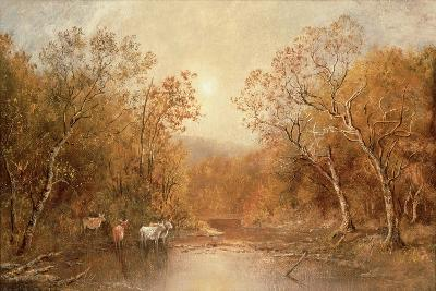 Landscape with Cows-Ralph Albert Blakelock-Giclee Print