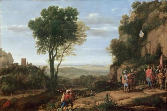 Landscape with David at the Cave of Abdullam, 1658-Claude Lorraine-Giclee Print
