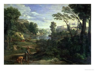 Landscape with Diogenes, 1648-Nicolas Poussin-Giclee Print