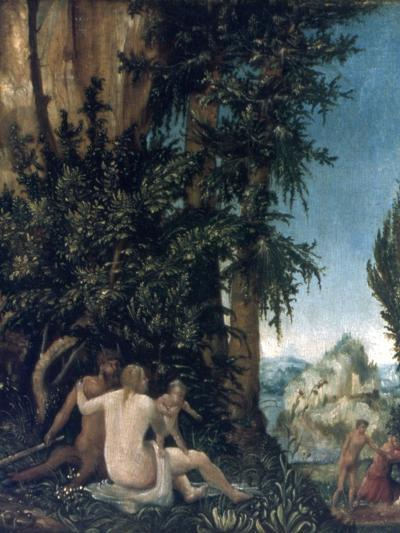 Landscape with Family of Satyrs, 1507-Albrecht Altdorfer-Giclee Print