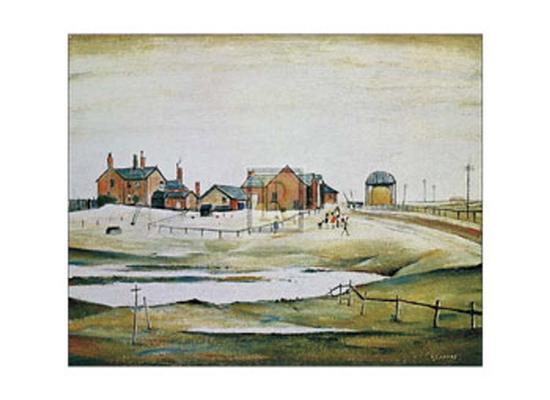 Landscape with Farm Buildings-Laurence Stephen Lowry-Art Print