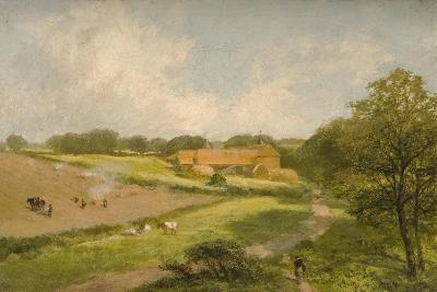 Landscape with Farm Buildings-James Peel-Giclee Print