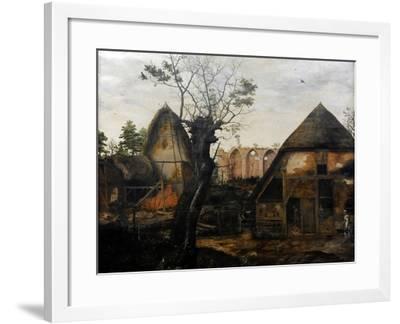 Landscape with Farmhouse, 1564-Cornelis van Dalem-Framed Giclee Print
