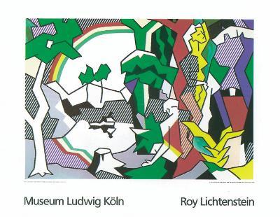 Landscape with Figures, 1980-Roy Lichtenstein-Serigraph