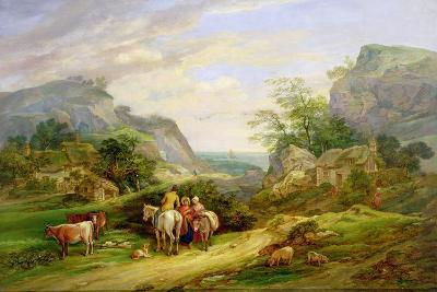 Landscape with Figures and Cattle-James Leakey-Giclee Print