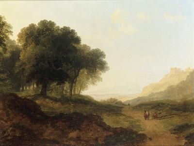 Landscape with Figures on a Path-James Arthur O'Connor-Giclee Print