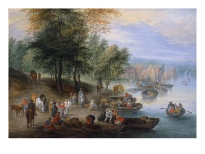 Landscape with Figures-Theobald Michau-Giclee Print