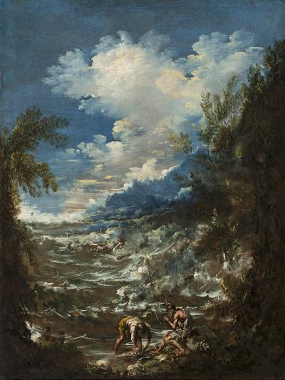 Landscape with Fishermen, C.1730-Alessandro Magnasco-Giclee Print