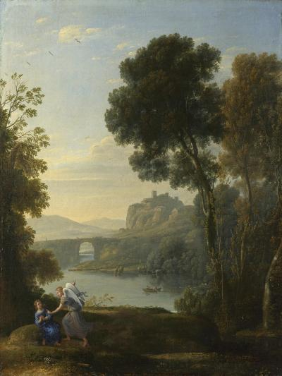 Landscape with Hagar and the Angel, 1646-Claude Lorraine-Giclee Print