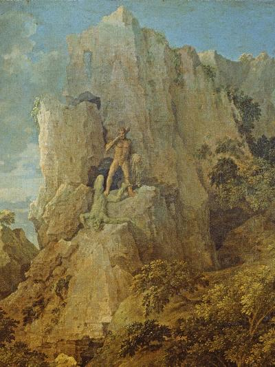 Landscape with Hercules and Cacus, C.1656-Nicolas Poussin-Giclee Print