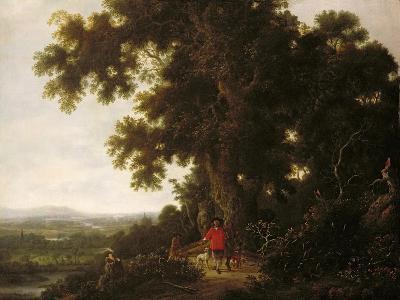 Landscape with Huntsmen and their Hounds-Joris van der Haagen or Hagen-Giclee Print