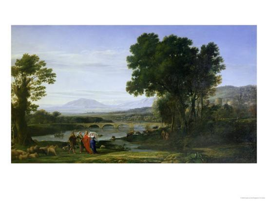 Landscape with Jacob and Laban and Laban's Daughters, 1654-Claude Lorraine-Giclee Print