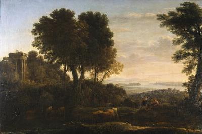 Landscape with Mercury and Battus, 1663-Claude Lorraine-Giclee Print